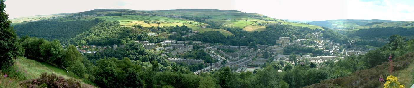 Panoramic View of Hebden Bridge